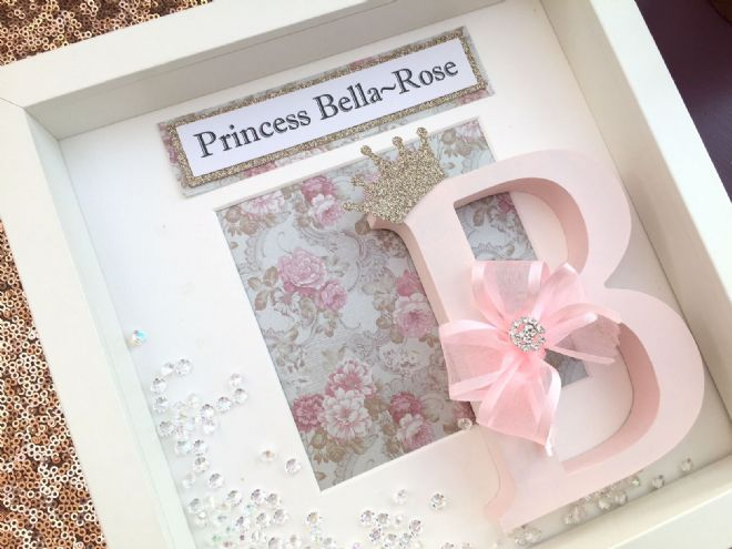 Princess Initial Box Frame